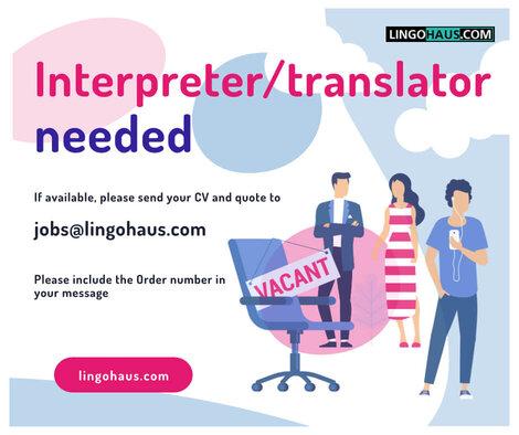 urgently needed translator