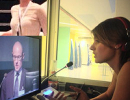 Simultaneous translator and interpreter in Cannes